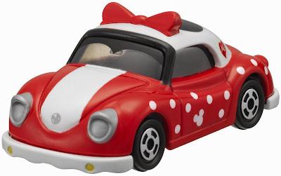 Chiếc Disney Motors DM-25 Poppins Minnie Mouse với hình thức sơn màu đỏ chấm bi