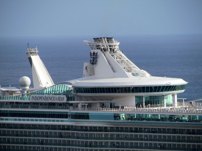 Independence of the Seas cruise ship detail
