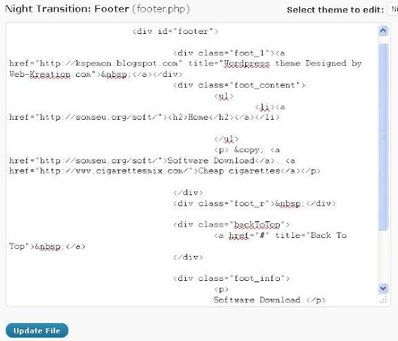 Cara Edit Footer.php Yang Ter-Enkripsi