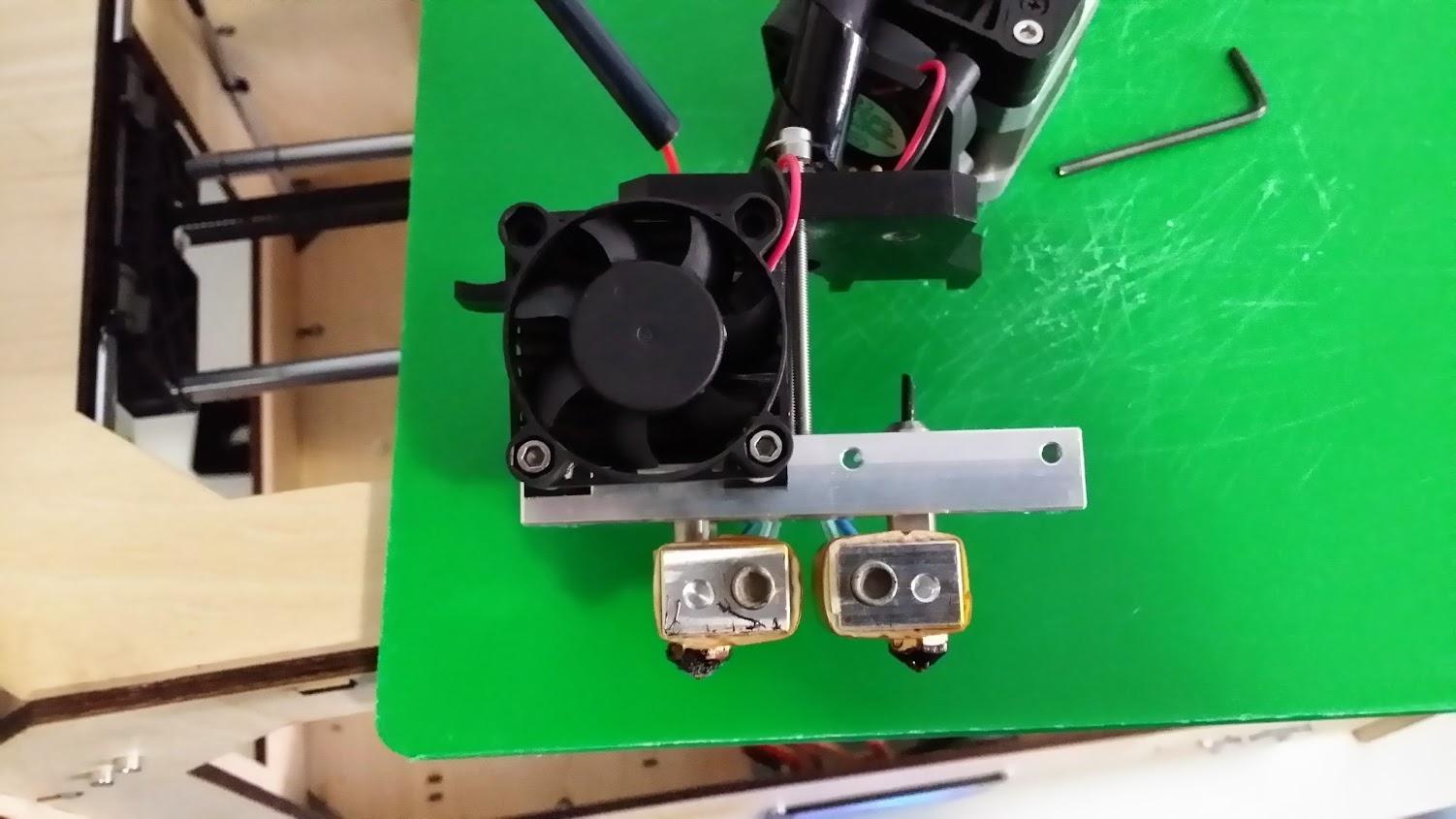 Flashforge Creator Dual / Pro How to fix Dual Extruders dragging