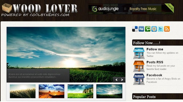 Wood Lover Blogger Template