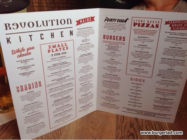 Revolution Bars The Vodka Burger