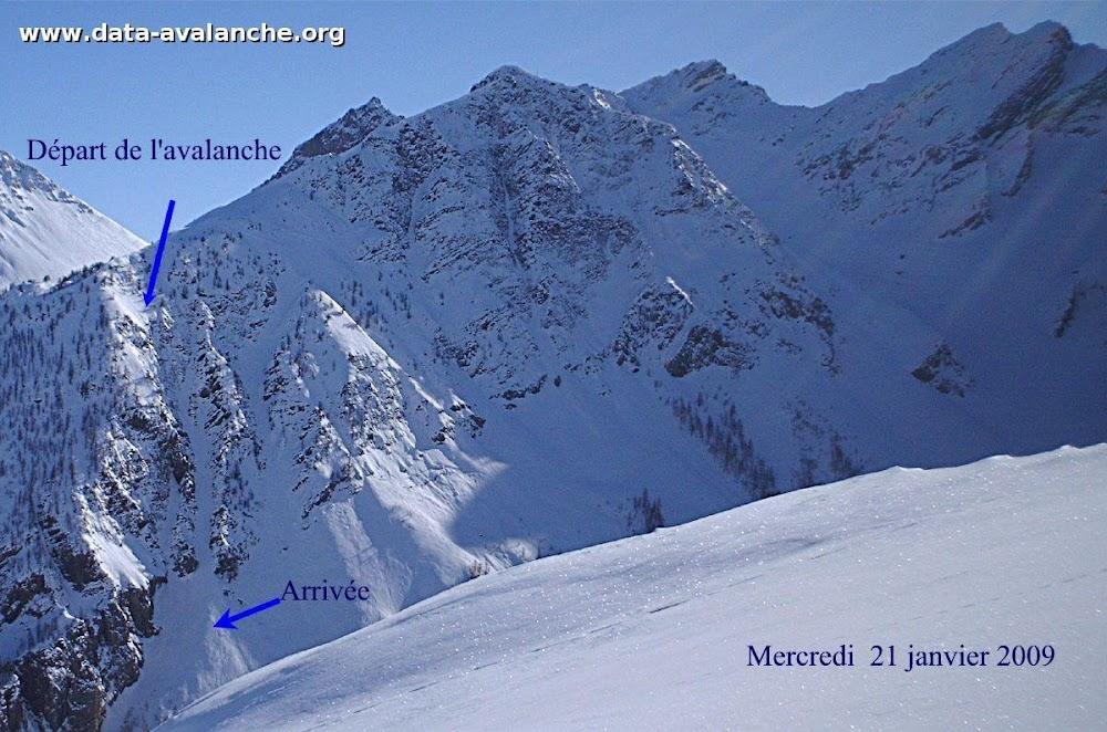 Avalanche Oisans, secteur Pic de l'Yret, Secteur de la Montagnole - Photo 1 - © Izquierdo François
