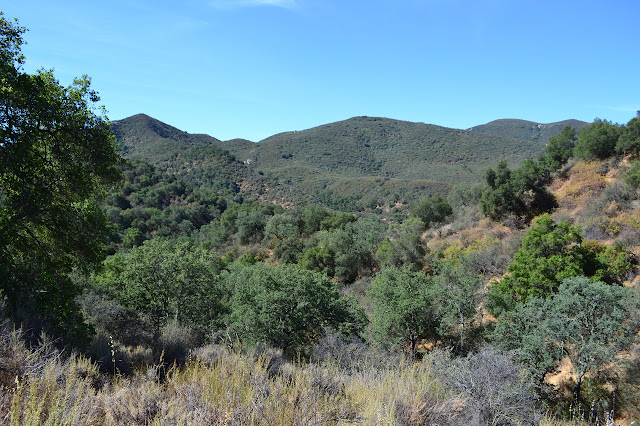 view from the trail over canyons
