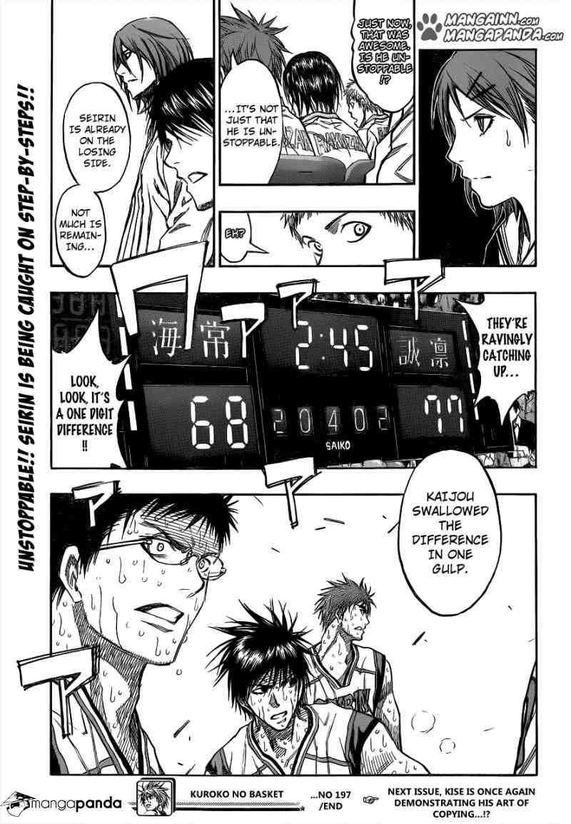 Kuroko no Basket Manga Chapter 197 - Image 18