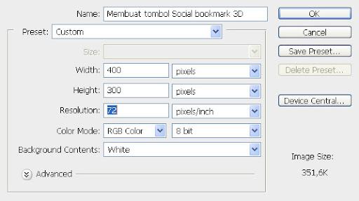 Mendesain tombol social bookmark 3D