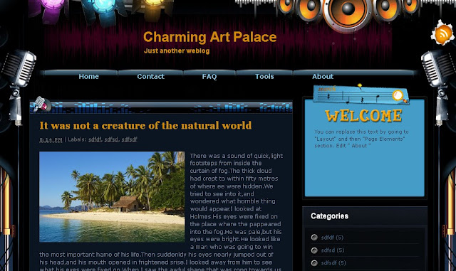 Plantilla para Blogger Charming Art Palace