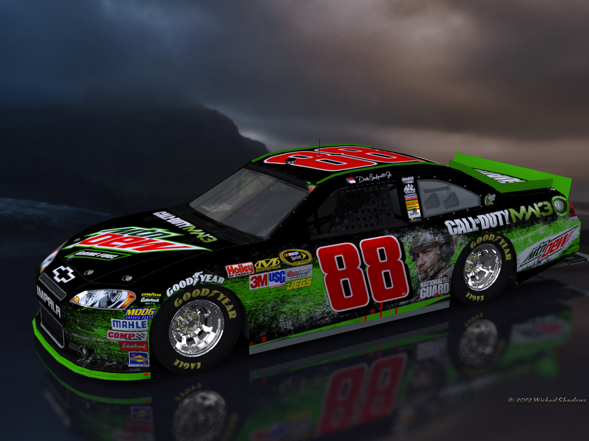 wallpapers by wicked shadows dale earnhardt jr mountain