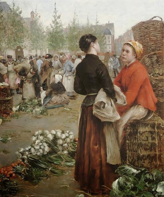 Norbert Goeneutte - Les Halles de Paris, 1881