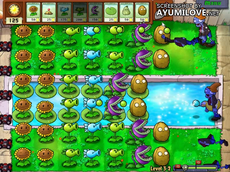 Plants vs Zombies Stage 3-2 Layout