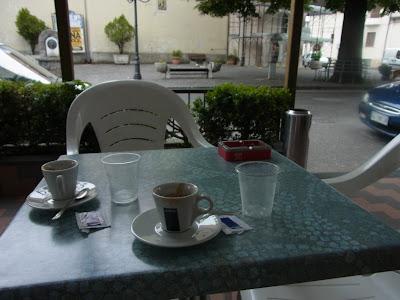 カフェのテラス