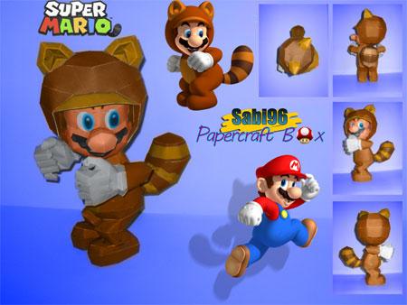 Tanooki Mario Papercraft