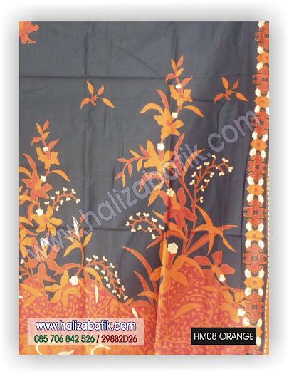 Batik Seragam Keluarga, Baju Batik Modern, Grosir Baju Batik, HM08 ORANGE