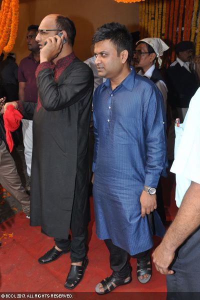 Sreekant and Mahendra during the wedding ceremony of Koel Mallick and Nispal Singh Rane, held at Rashbehari Gurdwara in Kolkata.