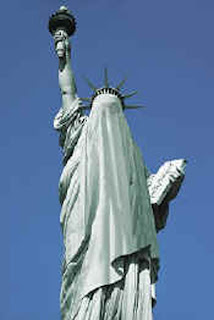 Moslem Plans for Giant Statue of Liberty Burqa Unveiled