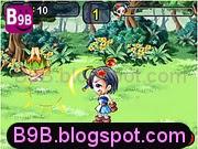 لعبة الفتاة الساحرة الصغيرة في وسط الغابة ومواجهة الوحوش الشريرة بالسحر الأبيض