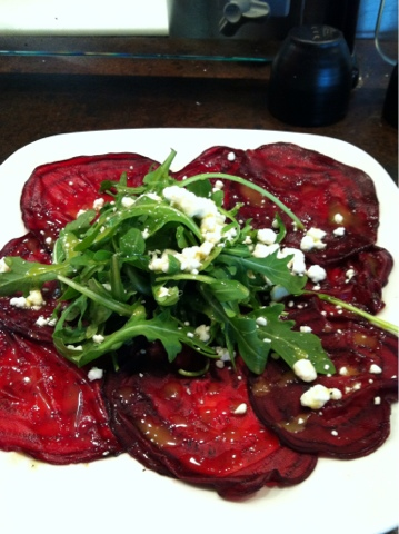 Beet Carpaccio With Goat Cheese And Arugula Recipes — Dishmaps