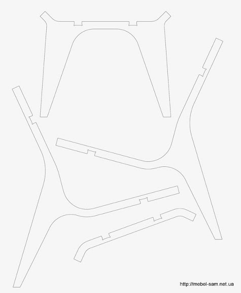 Раскрой фанеры для кресла