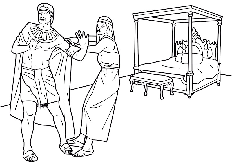 Joseph resist temptation coloring pages