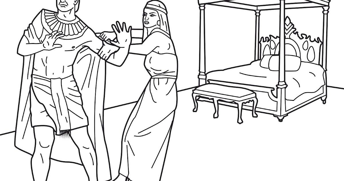 Ausmalbilder Malvorlagen Joseph Resist Temptation | Www ...