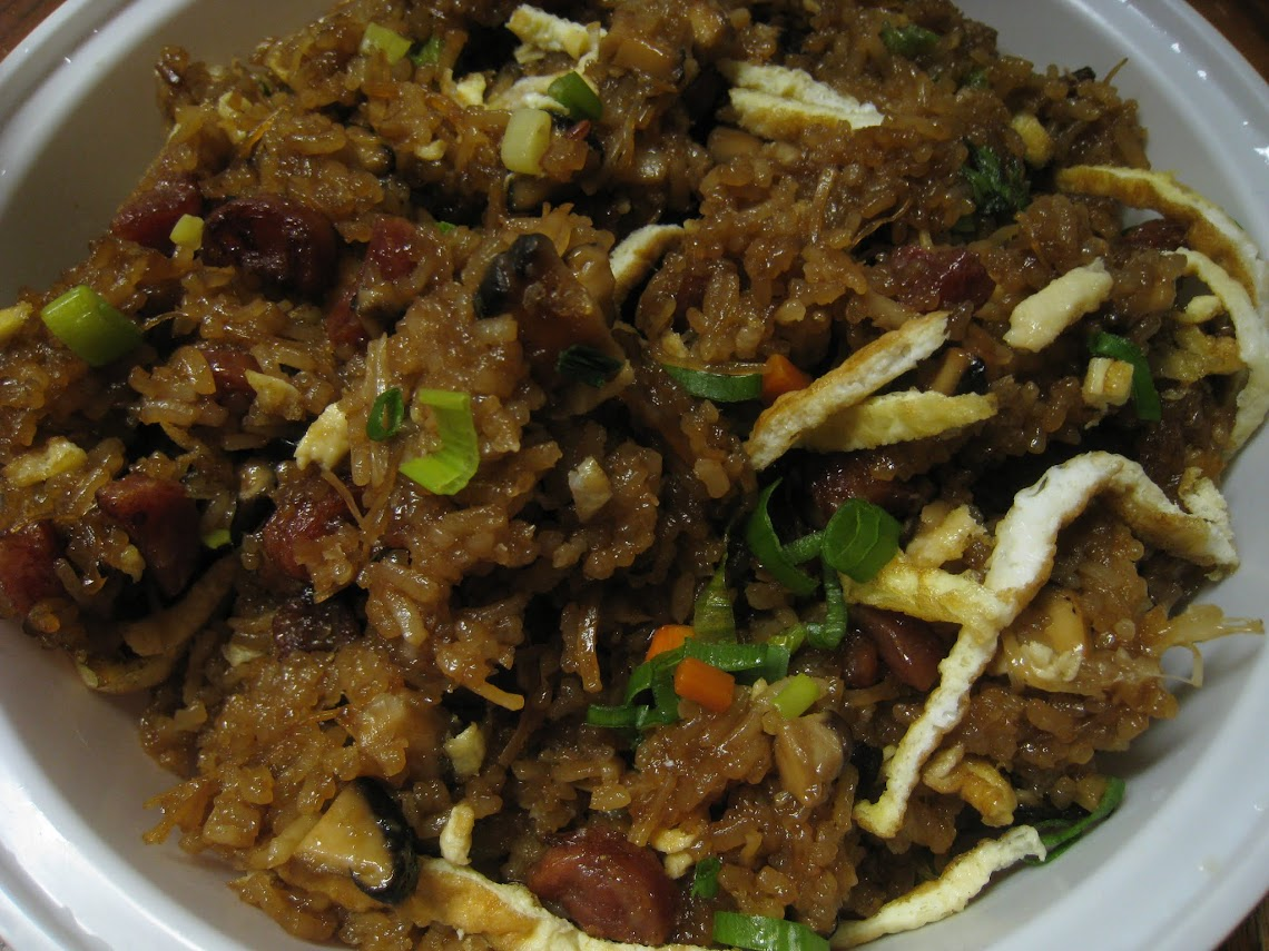 Traditional Stir Fried Sticky Rice - looks almost like store bought version eh?