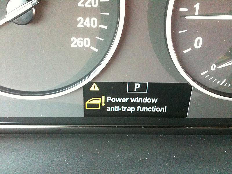 power window anti trap function failure bmw