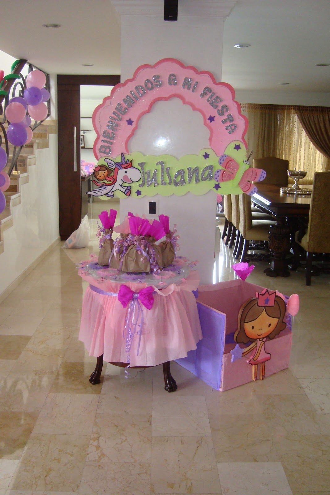 Decoracion fiesta princesa ni a decoraci n fiestas infantiles medell n revoltosos recreaciones - Decoracion para regalos ...
