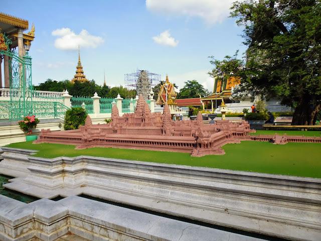 макет дворца в Пномпене