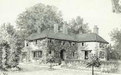 """Low Brooms, the residence of Colonel T. Wood."" From A Record of Shelford Parva by Fanny Wale P22"