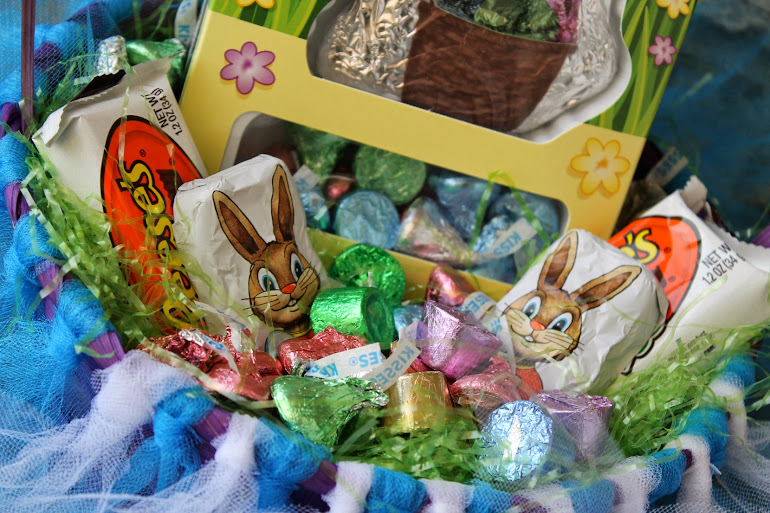 DIY Tutu Easter Basket with HERSHEY'S Goodies #BunnyTrail