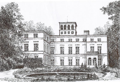 Pałac w Orsku – stan przed 1945 r.