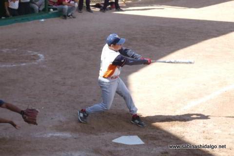 Juan Manuel Siller bateando por Tigres en el softbol dominical
