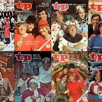 Los Payasos de la Tele en algunas de las portadas de la revista TP