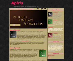 blogger template cool slideshow menu