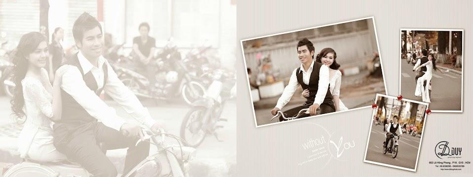 Đôi uyên ương vui tui trên đường phố Sài Gòn trong album hình cưới đẹp của studio DLDUY