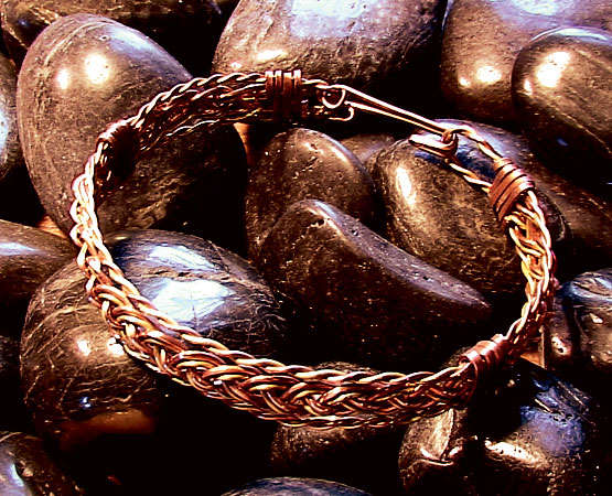 How to Make Woven or Braided Wire Bracelet Tutorials ~ The Beading ...
