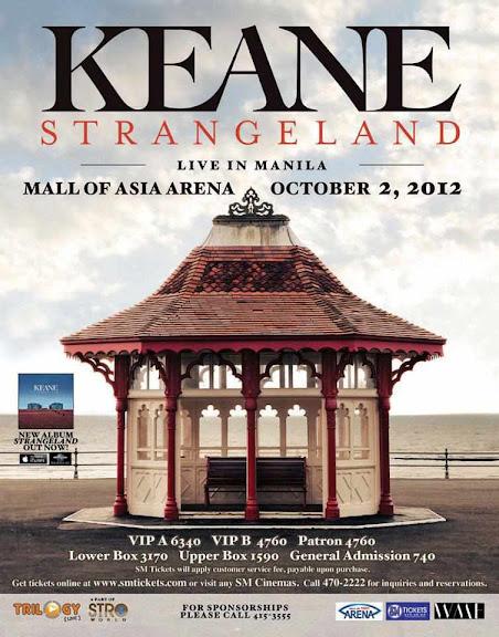 Ticket Prices – Keane Live in Manila