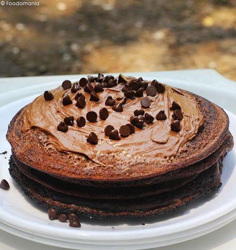 Nutella Pancakes Recipe | Easy Eggless Pancake from scratch written by Kavitha Ramaswamy of Foodomania.com