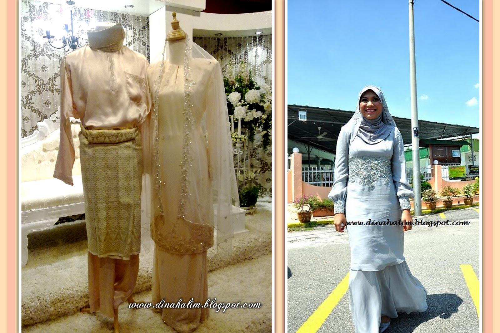Baju Nikah Sifon Krim & Baju Nikah Sifon Grey