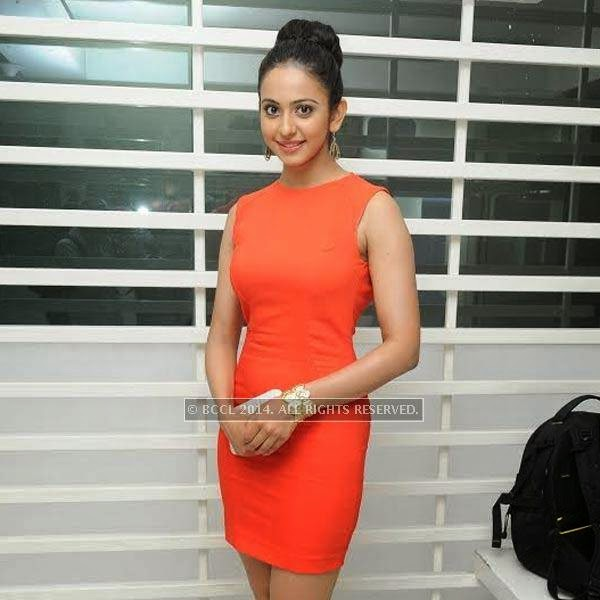 Rakul Preet Singh during SIMA's party held at OTM, Hyderabad.