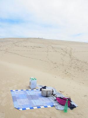 砂丘でピクニック