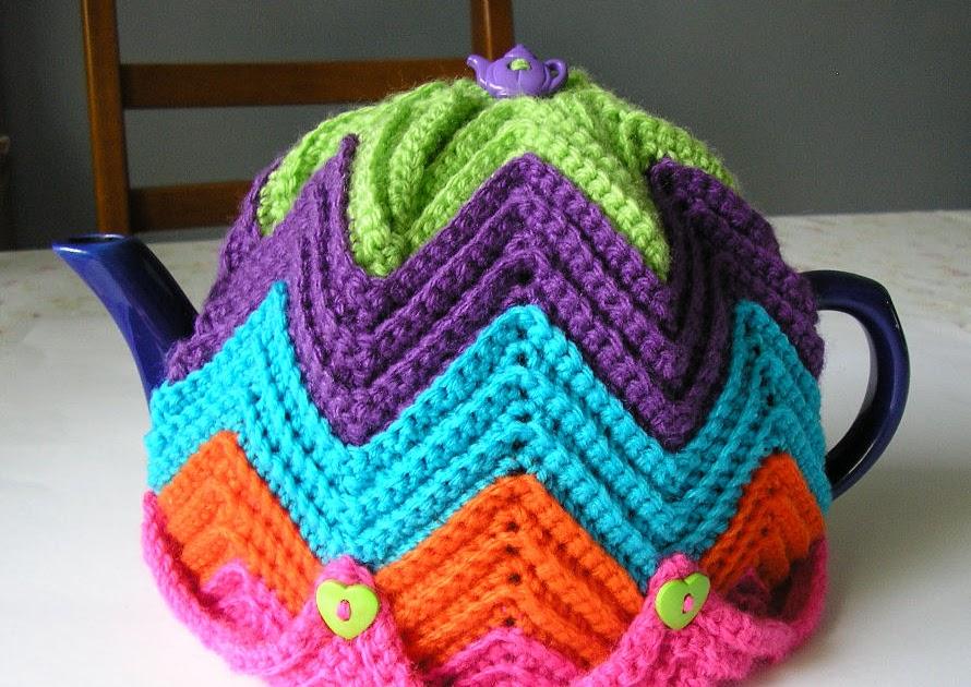 Justjen-knits&stitches: Justjens Easy Ripple Tea Cosy