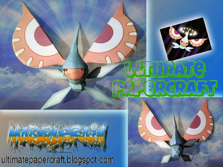 Pokemon Masquerain Papercraft