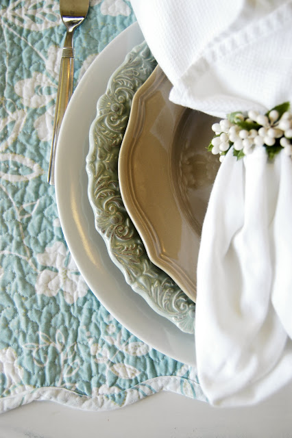 French entertaining, French tablescape, Light white and blue tablescape, The Style Sisters