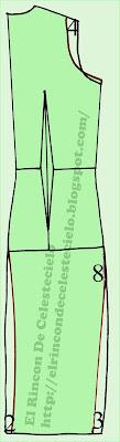 Espalda de vestido levantacola