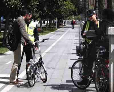 Control Policial carril bici Paseo Mallorca, Palma