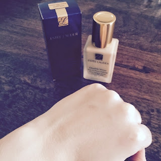 Estée Lauder Double Wear blended into skin.