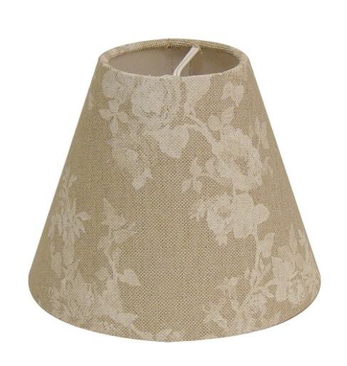 impressionen lampenschirm guernsey beige bl ten 14x7x12cm klemme ebay. Black Bedroom Furniture Sets. Home Design Ideas