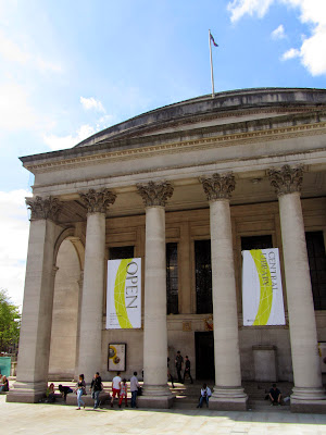 entrance to the Manchester Central Library