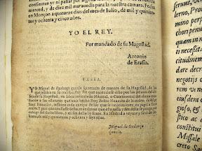 El escribano real firma la aprobación en Monzón el 14 de julio de 1585